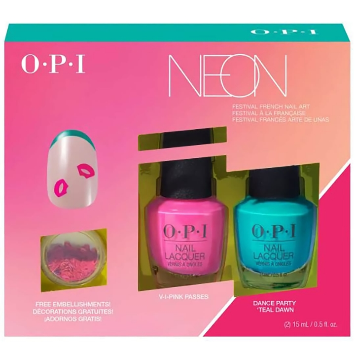 OPI Neon Festival French Nail Art in the group OPI / Nail Polish / Neon at Nails, Body & Beauty (DDN05)